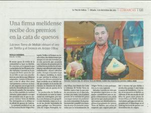 La Voz de Galicia - 3 de diciembre, 2011