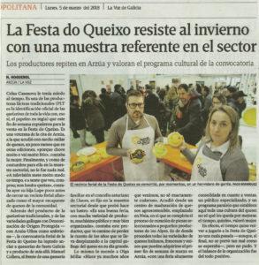 La Voz de Galicia - 5 de marzo, 2018